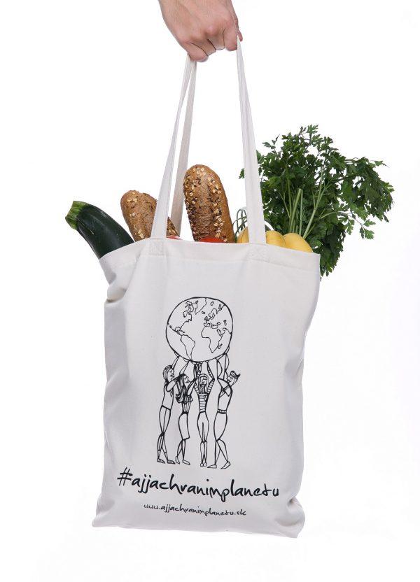 Bavlnená ekologická taška aj ja chránim nakupovanie