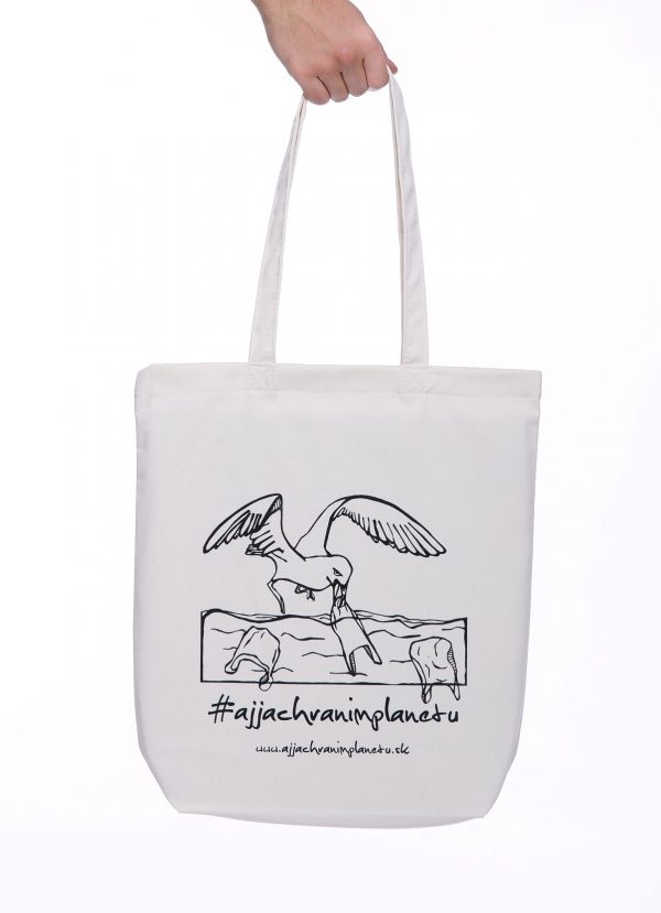 Bavlnená ekologická taška aj ja chránim planétu biela