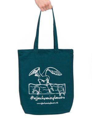 Bavlnená ekologická taška aj ja chránim planétu zelená